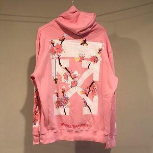 Off white pink hoodie